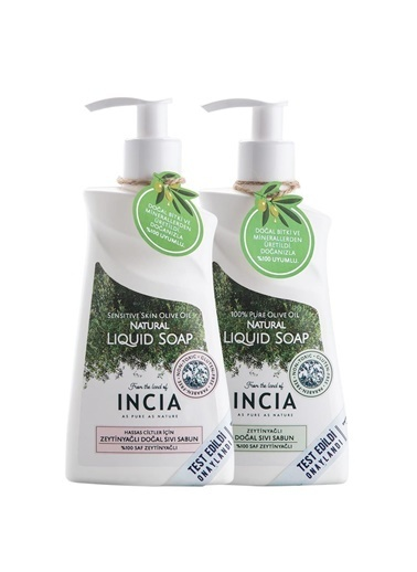 Incia Incia Sensitive Skin Olive Oil 250ml + Pure Olive Liquid Soap 250ml Set Renksiz